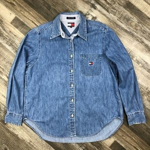 Tommy Hilfiger Denim Long Sleeve Shirt size 12